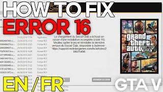 HOW TO FIX ERROR 16/201 - FR /EN - GTA V - ROCKSTAR SOCIAL CLUB (1080p@60)