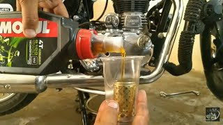 Royal Enfield engine oil change and engine flush at home | Mehra Riderzz | DIY |