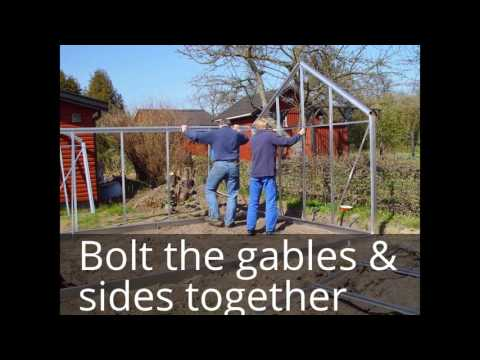 How To Install A Halls Or EDEN Greenhouse Frame