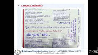 Labelling and packing of Drugs