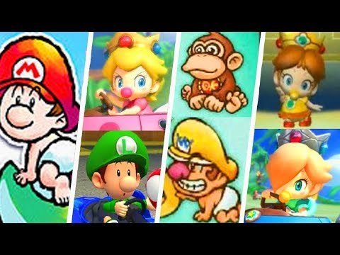 Evolution of Super Mario Baby Characters (1995 - 2018)