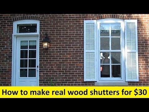 How To Make Real Wood Shutters for $30
