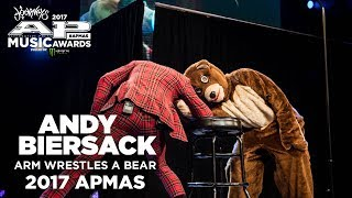 Watch ANDY BIERSACK arm wrestle a bear at the 2017 APMAs