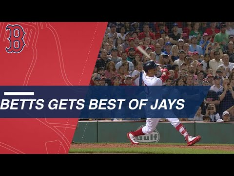 Mookie Betts concludes 13-pitch at-bat with monster grand sl