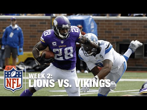 Bridgewater Flips It to Adrian Peterson for a 49-Yard Play | Lions vs. Vikings | NFL