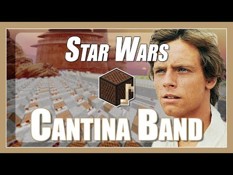 ♫ Cantina Band (Theme) - Star Wars Episode IV - Minecraft Note Block Song (with lyrics) ♫