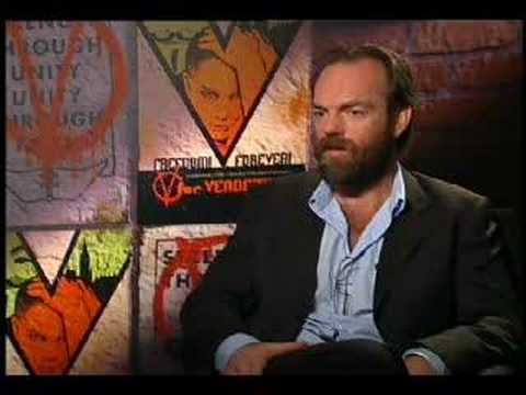 Hugo Weaving interview for V for Vendetta