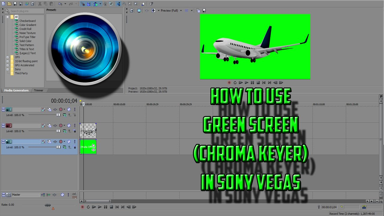 how to add in greenscreen sony vegas