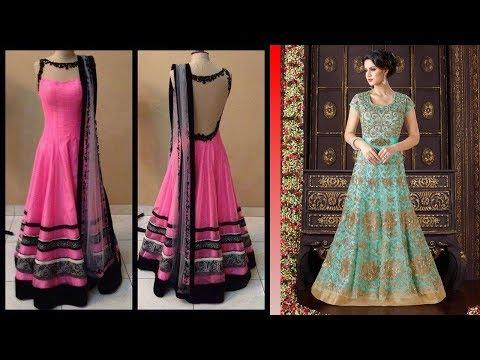 Long Anarkali Gown Dress Designs 2017 (Part 53)