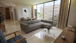 CASA MINIMALISTA MODERNA EN TERRENO DE 7X18m  | MODERN MINIMALIST HOUSE