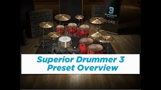 Superior Drummer 3 - Preset Overview (Metal, Rock, Pop, Electronic)