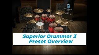 Superior Drummer 3 - Preset Overview (Metal, Rock, Pop, Electronic)
