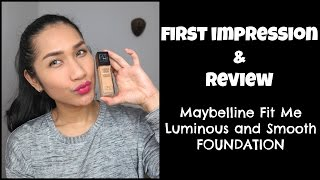 Review Maybelline Fit Me Luminous and Smooth Foundation /Bahasa / Makeup Indonesia
