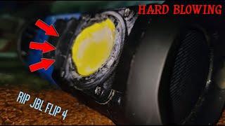 JBL FLIP 4 HARD REAL BLOWOUT | ABUSING LFM 100% | RIPPED WOOFERS