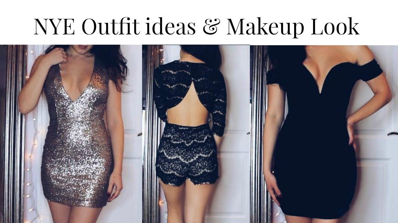 New Years Eve Outfit Ideas & Makeup Look!