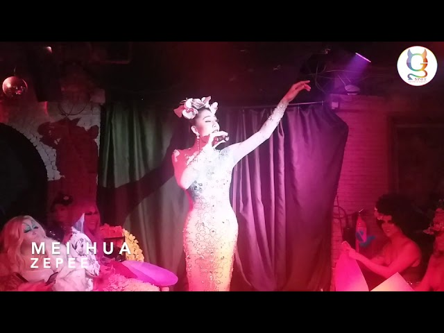 Sunday Gay Night at Maggie Choo's Drag Queens Blossom Theme Zepee MeiHua