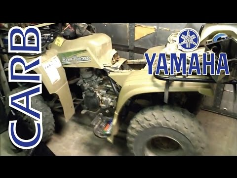 Yamaha ATV 250 Carburetor Repair part 1 of 2  YouTube