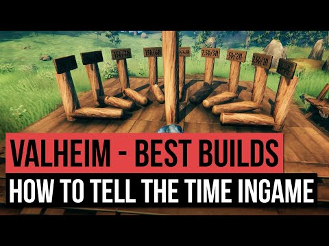 Valheim - Best Base Builds, How To Build A Sundial & TELL THE TIME! Level Up Your Base!