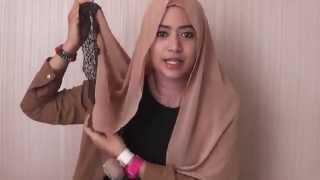 39 Hijab Tutorial Paris Segiempat   Square Scarf   Natasha Farani   YouTube