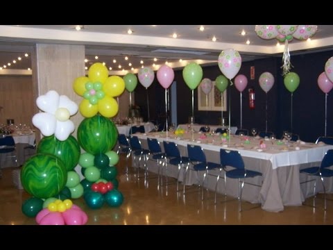 Como decorar un salon de fiestas con globos youtube - Decorar un salon ...