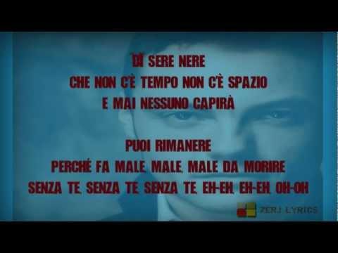 Tiziano Ferro - Sere Nere (Letra)