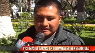 VÍCTIMAS DE ATRACO EN TOLOMOSA EXIGEN SEGURIDAD
