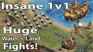 Simply INSANE Mediterranean 1v1! Slavs vs Japanese!