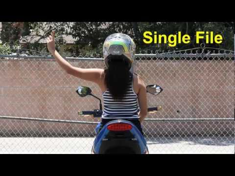 Motorcycle Group Riding Hand Signals (Motorcycle Safety Foundation)