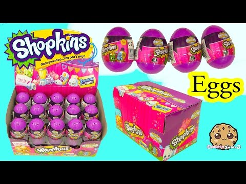 Surprise Purple Easter Eggs Blind Bag Shopkins Season 2 Full Box  - Cookieswirlc Video