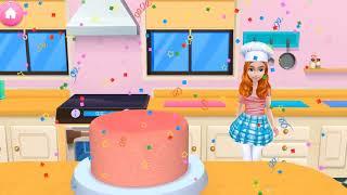 Моя Игра Детская Игра В Пекарню   Ребенок Учит Цвета Торт Создатель Играть Весело Выпекать, Украшат