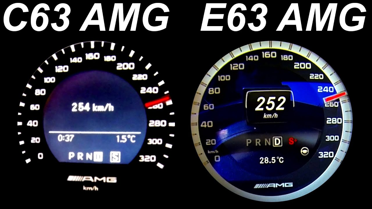 Mercedes C63 Amg Vs E63 Amg Acceleration 0 230 Exhaust