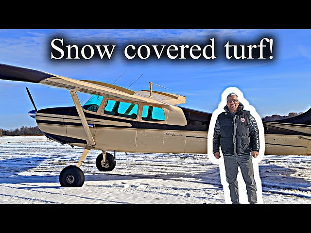 Flying snow covered backcountry runways in Michigan