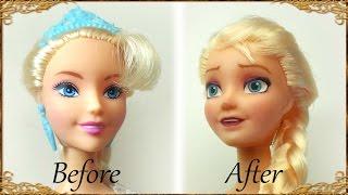 Doll Repaint; Elsa (Frozen) Inspired