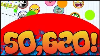 '50,620 MASS HIGHSCORE!!' - AGARIO BIGGEST CELL SCORE EVER! (Agar.io Epic Gameplay)