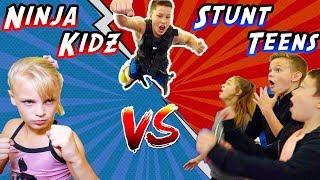 WHO WILL WIN? Ninja Kidz vs Stunt Teens!