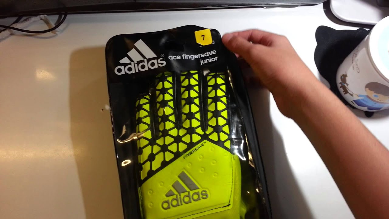 sale retailer 7613d 0df3b Adidas ace fingersave junior gloves unboxing