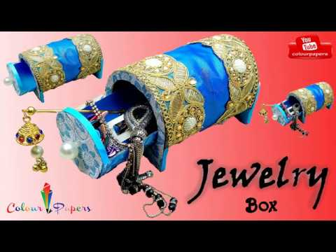 DIY - craft. How to Make Jewelry Box. Organizer For Jewelry | organization gifts . Colour Papers