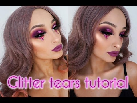 Glitter tears makeup tutorial
