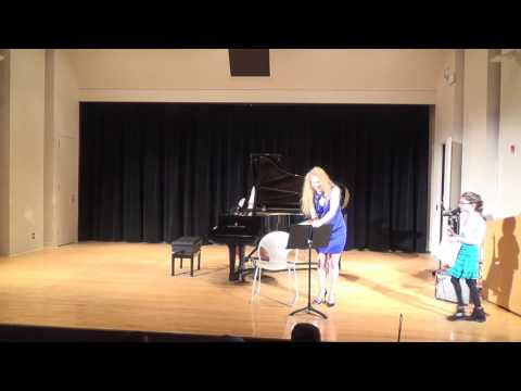 Student Recital on January 21st at 2:30, part 2