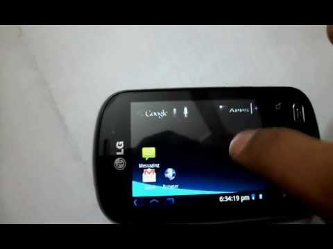 Honeycomb(Android 3.0) Launcher on LG Optimus ME P350