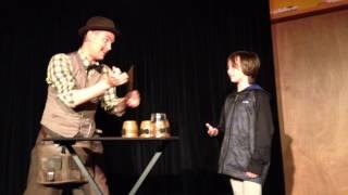 Tom with Magician Charlie Caper in Edinburgh
