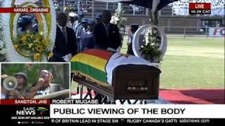 Former President Robert Mugabe body arrives for public viewing