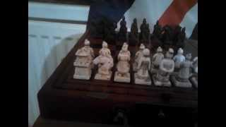 My Terracotta warriors chess set review