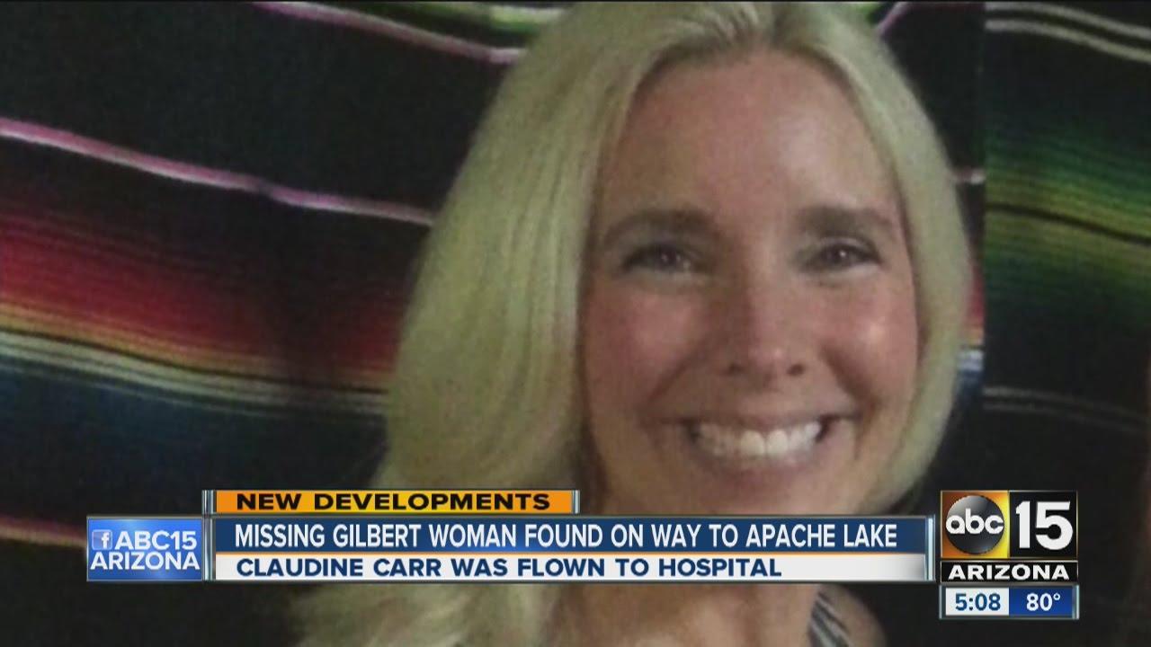 missing gilbert woman found near canyon lake youtube