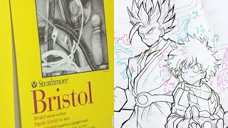 STRATHMORE BRISTOL VELLUM 300 SERIES - Paper Pad  - Unboxing + NEW DRAWING - COMING SOON