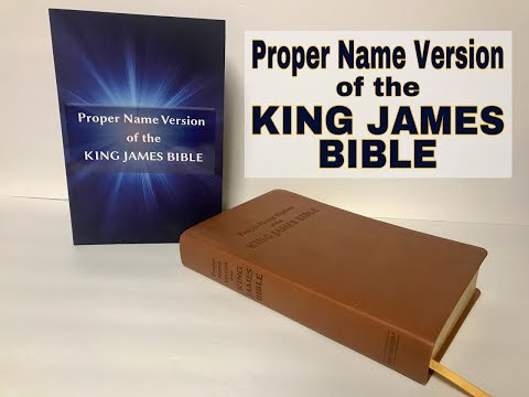 Proper Name Version Of The King James Bible Review Deluxe Edition