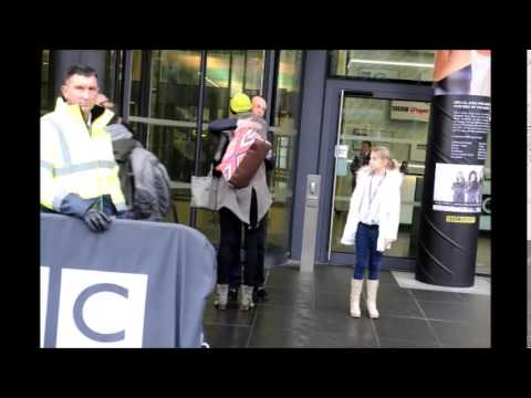 Jodie Kidd and Quentin Willson at Media City