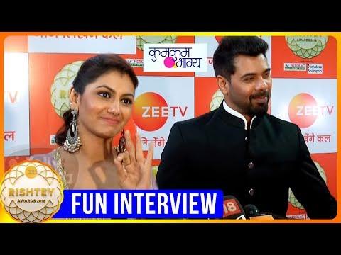 Shabbir Ahluwalia And Sriti Jha's Fun Interview   Kumkum Bhagya   Zee Rishtey Awards 2018 Red Crapet