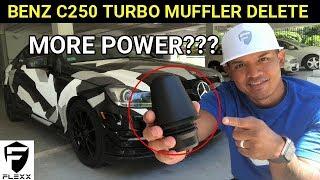 MERCEDES HOW TO: INSTALL TURBO MUFFLER DELETE ON C250 TURBO ENGINE