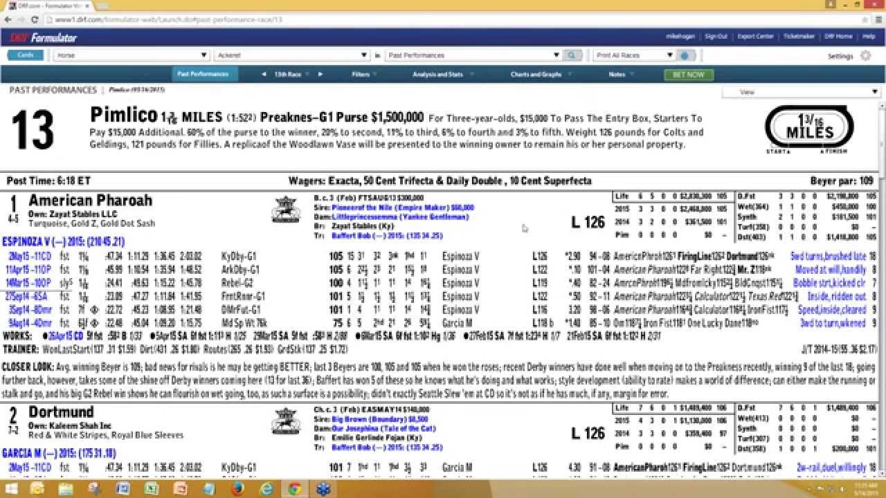 Captivating Daily Racing Form   Free Preakness Stakes Formulator Webinar